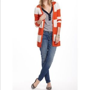 Anthropologie Rugby Pointelle Cardigan